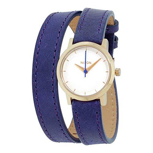 Nixon Damen Analog Quarz Uhr mit Leder Armband A4031675-00