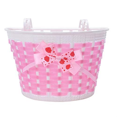 Dasing - Cestino per bicicletta per bambini, con fiocco, colore: Rosa