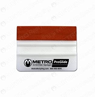 Metro ProGlide Scratchless Squeegee Teflon Suede Edge for Car Wraps 4 Inch