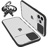 Coque Avec Protection Caméra Glissante Compatible Avec iPhone 11 Pro Coque Protecteur d'Objectif...
