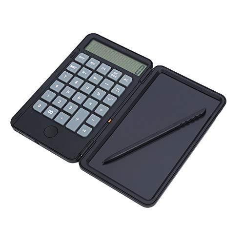 Bloc de notas de calculadora básica con tableta de escritura LCD de 6 pulgadas, tablero de dibujo recargable, calculadora, pantalla de 12 dígitos, tablero de escritura electrónica, regalos para niños