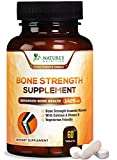 Bone Strength Supplements Calcium Formula - Vitamin K and D3, Magnesium, Potassium - Made in USA - Complete Bone Support Supplement, High Absorption Formula - 60 Tablets