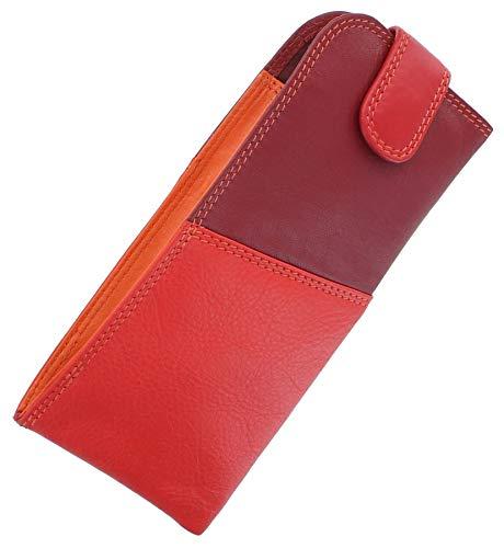 Visconti Rainbow Collection Belize - Custodia per occhiali in nappa, Red Multi (Rosso) - RB106