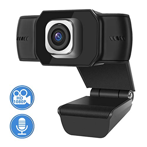 Webcam for PC,Skype Camera,Webcam mit Mikrofon,1080P Computer kamera, Webcams USB 2.0 Plug & Play für Laptop, Computer, PC, Desktop, für Live-Streaming, Videoanruf, Konferenz, Online-Unterricht, Spiel