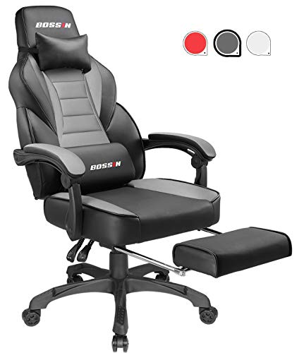 Gaming Chair Racing Style Office Ergonomic Chair High-Back PU Leather...