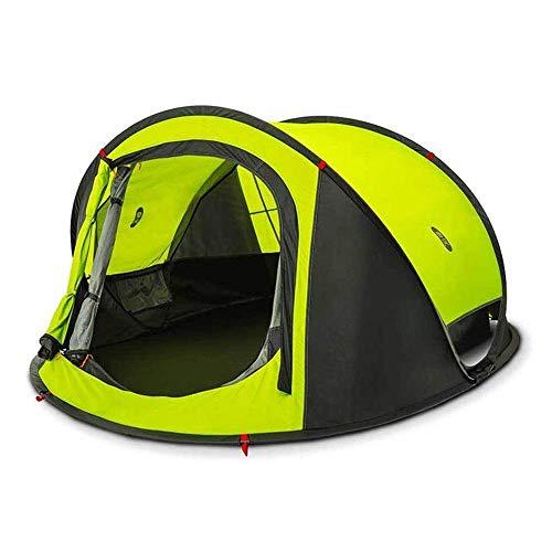 MotBach Tienda 2000 mm Índice Impermeable 3-4 Personas Camping automático Camiseta al Aire Libre Impermeable a Prueba de Agua Doble Coselera Sombrilla de cúpula al Aire Libre Tienda