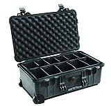 Peli 1510 - Maleta para cámara con compartimentos desplazables y ruedas, negro