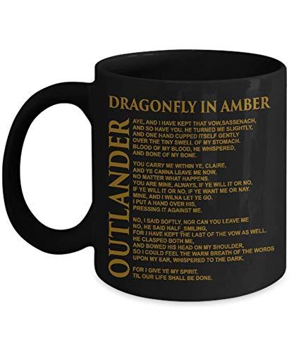NA En ámbar - Outlander - Negro - Taza de café, Gracioso, Taza de té, Amante, Día de la Madre, Día del Padre, Amigo, Navidad, Navidad JTTB1B