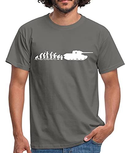 Spreadshirt World of Tanks Évolution Char D'Assault T-Shirt Homme, XL, Gris Graphite