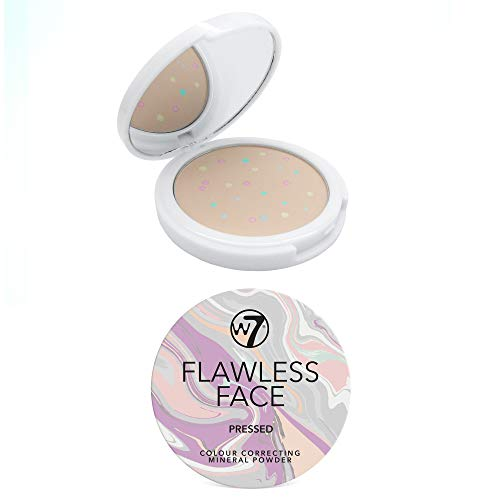 W7 | Flawless Face Color Correcting Mineral Powder | Pressed Face Powder Makeup | Multi-Colored Setting Powder Suitable For All Skin Tones | Soft And Lightweight Formula