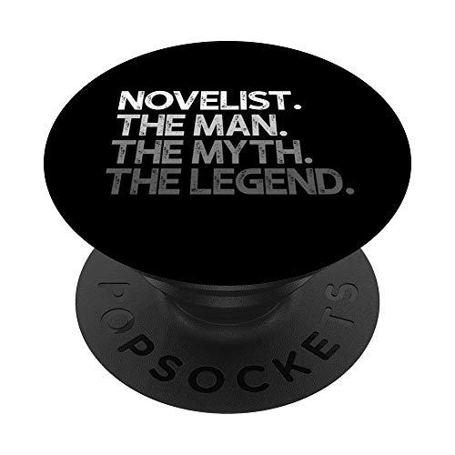 Novelist Man The Myth Legend Gift PopSockets PopGrip Intercambiabile
