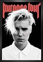 1art1 Justin Bieber Póster con Marco (Madera DM) - Purpose Tour (91 x 61cm)
