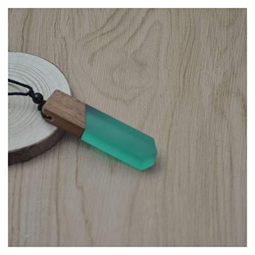 Collar De Madera De La Resina De Madera De La Mujer De Los Hombres De La Vendimia Regalos De La Cadena De La Cuerda Tejida del Colgante (Metal Color : 14)