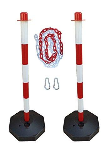 GC2-CH2 Coppia di dissuasori di plastica con catena 2m plastica