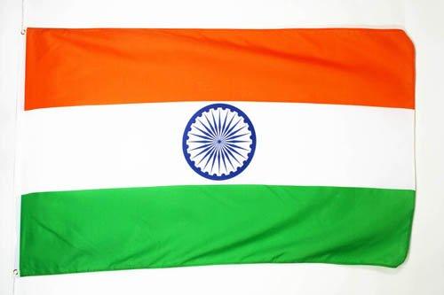 AZ FLAG Flagge Indien 150x90cm - INDISCHE Fahne 90 x 150 cm feiner Polyester - flaggen