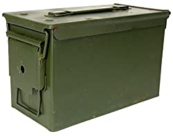 top 10 ammo cans Military outerwear previously issued by the USGI M2A1 50 gauge metal ammunition box (previously owned)
