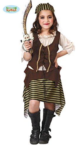 Guirca süßes Piratin Kostüm für Mädchen Gr. 110-146, Größe:110/116