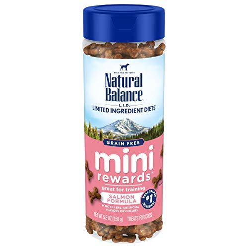 Natural Balance L.I.D. Limited Ingredient Diets Mini Rewards Dog Treats, Salmon Formula, 5.3 Ounce Canister