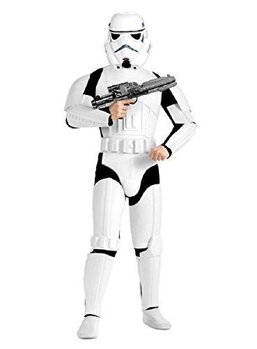 Star Wars Stormtrooper Kostüm Deluxe weiss schwarz (Bundle) M/L