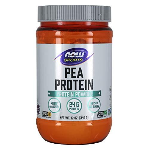 NOW Foods - % Pure 100Non-GMO del guisante de la proteína vegetal Unflavored natural de la proteína - 12 oz.