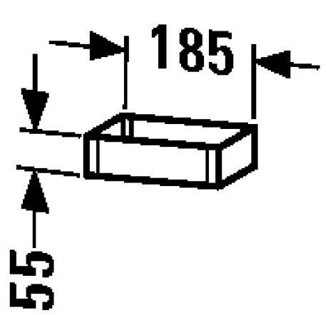 Duravit DU Box Vero 100x185x55mm