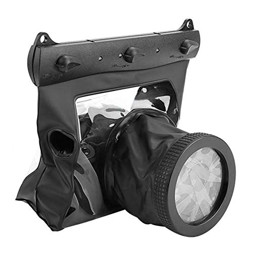 Bewinner Bolsa Sumergible Sumergible de 20M para cámaras DSLR, cámara Universal Cámara Sumergible Funda Impermeable Funda Protectora de Buceo(Negro)