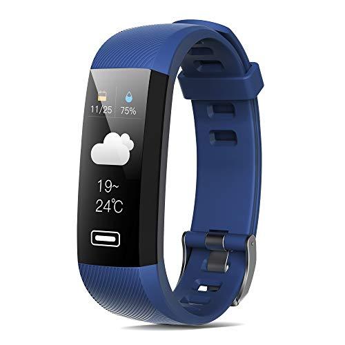 READ Fitness Tracker, Trackers d'activité étanche avec écran Tactile Couleur with Cardiofréquencemètre Podomètre Marche Calorie Sommeil Appel SMS SNS Remarque Femme Homme Enfant