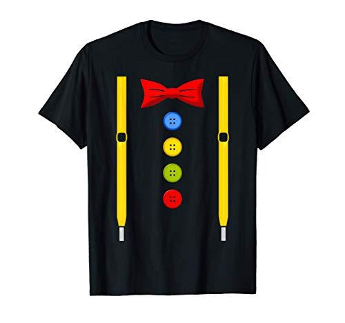 Clown Karneval Kostüm Faschingskostüm mit Hosenträger Fliege T-Shirt