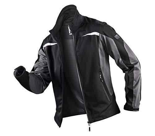 KÜBLER Workwear KÜBLER Weather Ultrashell-Arbeitsjacke schwarz, Größe L, Unisex-Arbeitsjacke aus Mischgewebe, Funktionelle Ultrashell-Arbeitsjacke