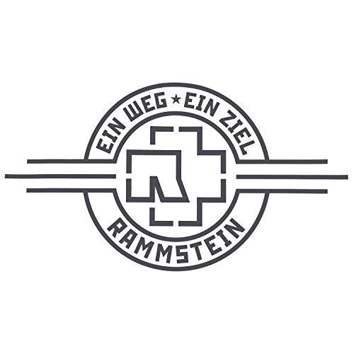 """Rammstein Auto Aufkleber Sticker EIN Weg, EIN Ziel"""" schwarz (aussenklebend) 69 x 38cm, Offizielles Band Merchandise Heckscheibe"""