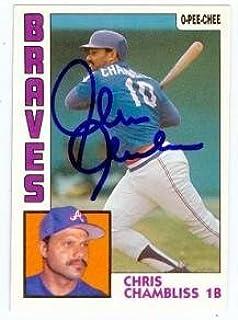 Chris Chambliss autographed baseball card (Atlanta Braves) (67) 1984 O-Pee-Chee #50 - Autographed Baseball Cards