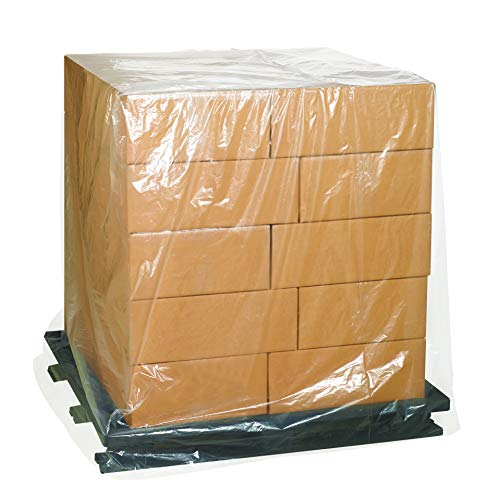 Aviditi PC504 Pallet Covers, 48' x 46' x 72', 1 Mil, Clear (Pack of 100)