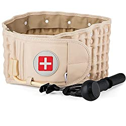 in budget affordable Back decompression belt lumbar support to reduce back pain – fits the entire waist in one size 29-49