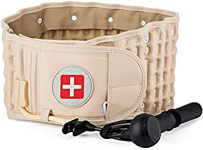 Decompression Back Belt Lumbar Spine Support for Lower Back Pain Relief - One Size Fits 29-49 Waist