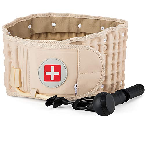Spinal Decompression Back Belt for Lower Back Pain Relief- Lumbar Traction Device for Men & Women, One Size Fits 29-49 Waist
