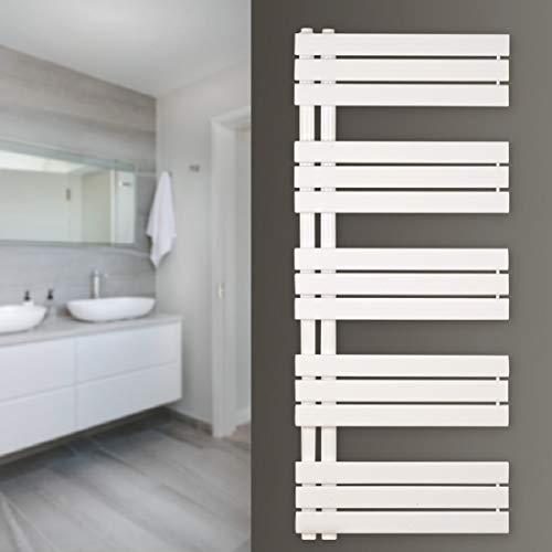 Zimmerheld Design Heizkörper Paneelheizkörper Heat Free Handtuchwärmer Heizung Badheizung, Farbe: Weiß, Größe: 60cm x 115cm