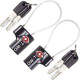 OW-Travel Candado de Cable con Llave TSA, Cable Acero Plastificado. Candado para...