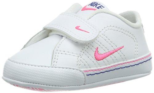 Nike First Court Tradition Lea CBV, Scarpe da Ginnastica Bambino, Bianco, Rosa, 19.5 EU