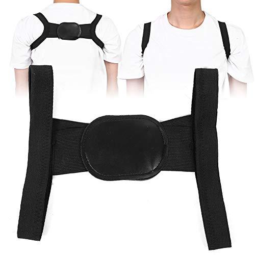 Soporte corrector de postura de soporte de columna vertebral transpirable para adulto(black, L)