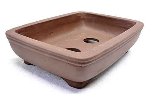 Purple Clay Rectangular Bonsai Pot 6x4.5x1.75in