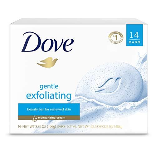 Dove Beauty Bar para una piel más suave y suave exfoliante suave más hidratante que el jabón de barra 3.75 oz 14 barras
