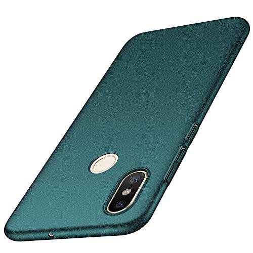 anccer Serie Matte für Xiaomi Mi 8 Hülle, Elastische Schockabsorption & Ultra Thin Design (Kies Grün)