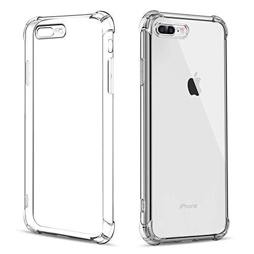 Amonke Funda para iPhone 8 Plus 7 Plus, TPU Silicona Transparente Carcasa Protector Airbag Anti-Choque Anti-arañazos Ultra Fina Suave Claro Caso para Teléfono iPhone7 iPhone8 Plus 5,5'