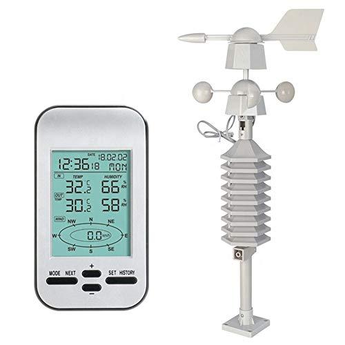 Funkwetterstation Wifi mit Außensensor, Professionelle automatische Wetterstation, Windgeschwindigkeit und -richtung, Niederschlag, Temperatur, Luftfeuchtigkeit