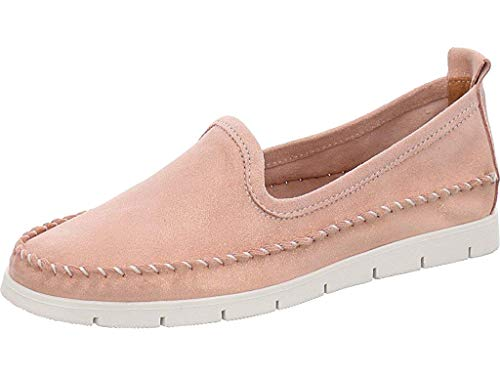 Lady Double You Damen Slipper/Moccasins Leder Rosa