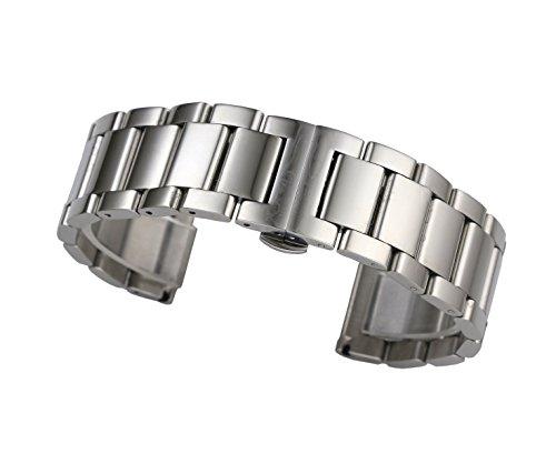 solidi cinturini in acciaio inox 316L in argento 19 millimetri collegamenti...