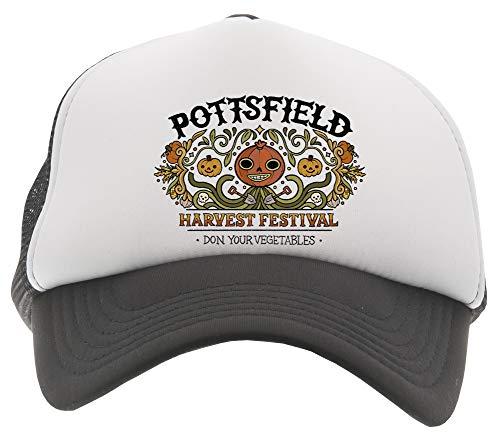 Pottsfield Harvest Festival Gorra De Béisbol Camionero Niños Negro Baseball Trucker Kids Cap Black