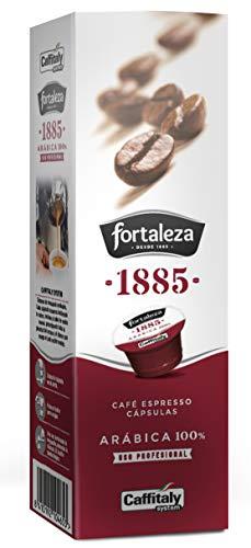 Café Fortaleza Natural - Cápsulas Compatibles con Caffitaly, Especial Espresso, 100% Arábica, Uso Profesional, Pack 8 x 10 - Total 80 uds