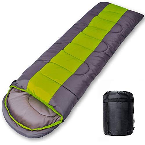 Nealpar Saco de Dormir Camping Ligero 4 Estaciones cálido y frío sobre Mochila Saco de Dormir para Senderismo al Aire Libre,Green,1.4KG