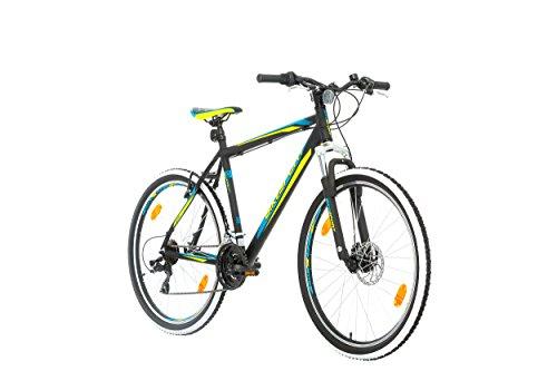 BIKE SPORT LIVE ACTIVE 27,5 Zoll Bikesport Attack Herren Fahrrad MTB Mountainbike Hardtail ALU Rahmen Shimano 21 Gang (Blau Grün, XL)